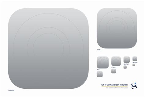 Apps Template an ios 7 app icon template for obsessive designers savvy