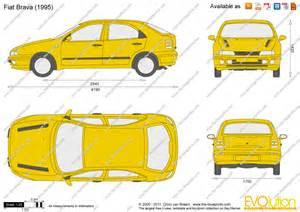 Fiat Bravo Dimensions The Blueprints Vector Drawing Fiat Brava