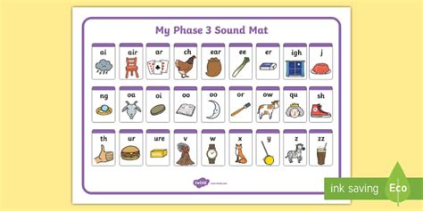 phase 2 3 sound mat phase 3 sound mat alphabetical order phase 3 phase three