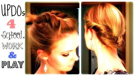 miracurl work on short hair 4 quick updos 4 school work and play youtube