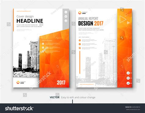 layout of a board report cover design annual report catalog magazine stock vektor