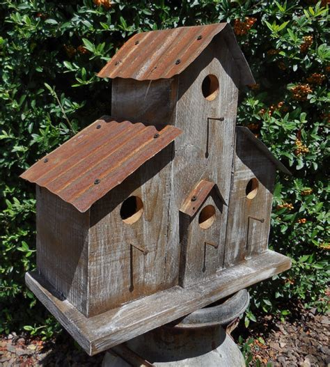 Handmade Bird Houses For Sale - rustic ranch birdhouse cabin birdhouse western birdhouse