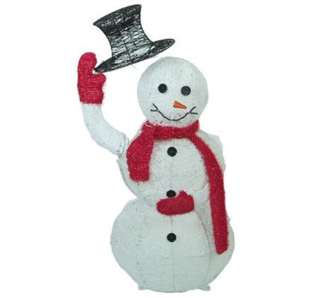 How To Make A 3d Snowman Out Of Paper - 40 quot 3d animated snowman tipping hat by sterling qvc