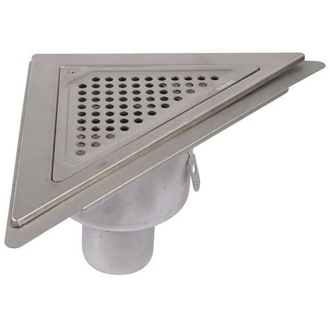 Bathroom Gully Drain Shower Drain Gully Stainless Steel Triangular Corner