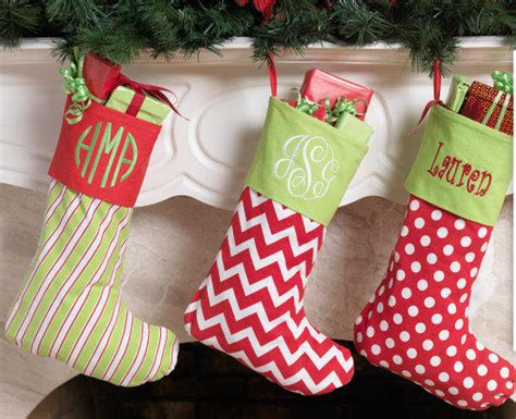 monogrammed christmas stockings sale monogram christmas stocking from themonogrammingqueen on