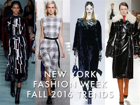 2016 New Autumn And Winter - new york fashion week fall 2016 trends plaid velvet more
