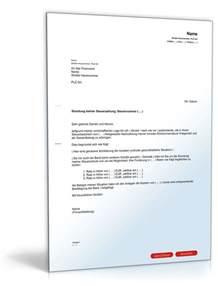 Musterbrief Antrag Ratenzahlung Bitte Um Ratenzahlung Der Steuerschuld Muster Vorlage Zum