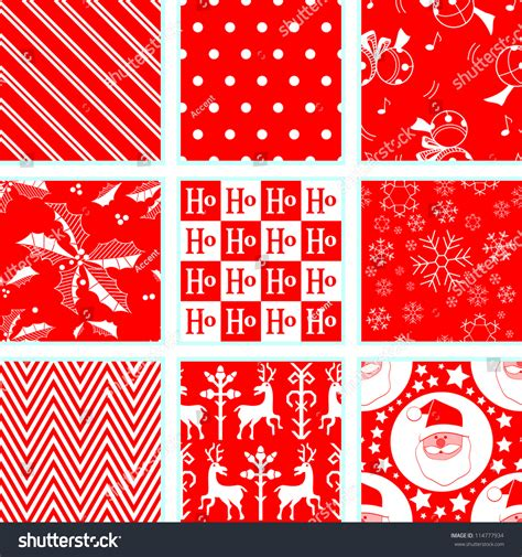 christmas pattern repeat 9 christmas repeating patterns stock vector 114777934