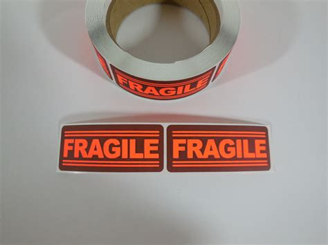 Label Sticker Pengiriman Fragile 3 250 1x3 fragile labels stickers for shipping supplies office fayetteville