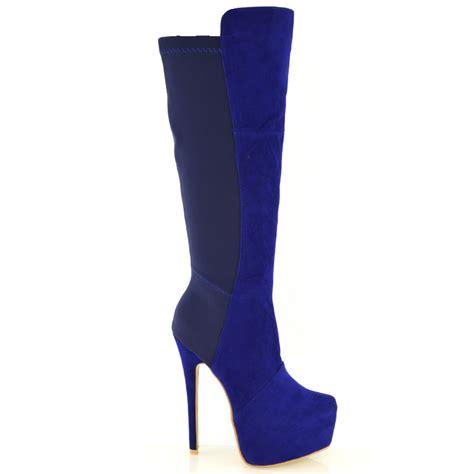 knee high heel platform boots womens stiletto