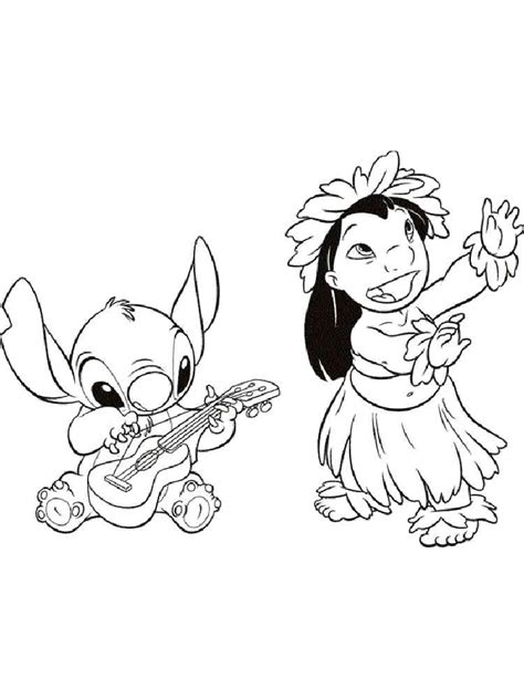 lilo and stitch coloring pages download and print lilo