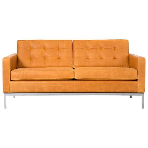 settees for sale florence knoll leather settee for sale at 1stdibs