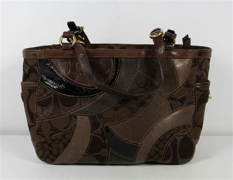 Coach Patchwork Shoulder Bag - coach brown mosaic patchwork shoulder bag purse 13516 ebay