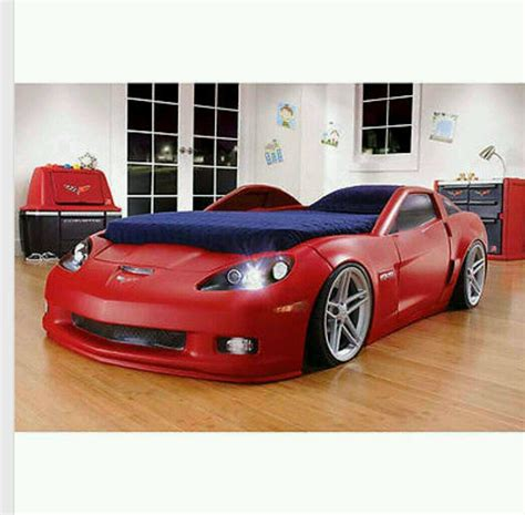 twin bed red convertible corvette style toddler bed w