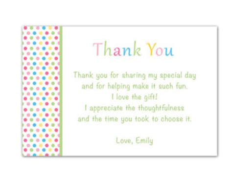 thank you note template baby shower thank you card random sles of personalized baby shower