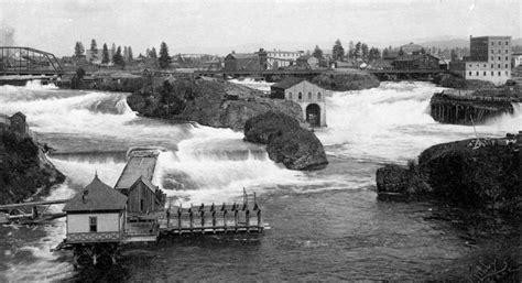 Absurdity At The Park Spokane Indians Flickr by Then And Now Photos Spokane Middle Falls Cool