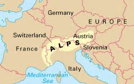 Alps Mountains On World Map by The Alps