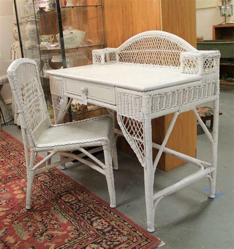 Antique Wicker Desk Antique Furniture