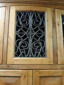 faux wrought iron cabinet door insert the cabinet door