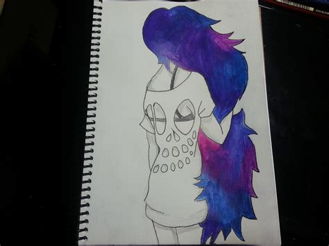 imagenes tumblr para dibujar hipster como dibujar pintar una chica con cabello de galaxia youtube
