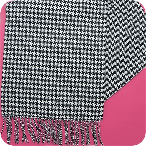 black and white houndstooth pattern 100 cashmere scarf black and white houndstooth