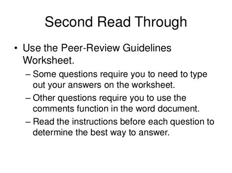 peer review guidelines lecture