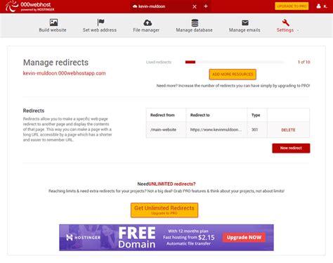 url host free website hosting with 000webhost 67nj