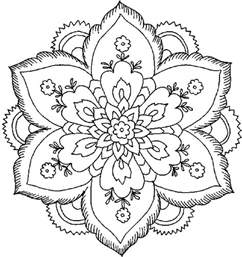 Flower Coloring Pages For Adults Coloring Home Flowers Colouring Pages For Adults