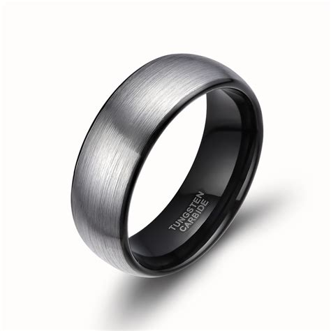 mens wedding band comfort fit 8mm men dome tungsten carbide ring promise engagement