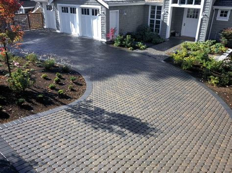 Patio Pavers Cost Uni Eco Permeable Paver Driveway A Low Cost Permeable Option With A Cobble Look For