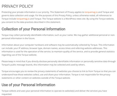 Privacy Policy by A Beginners Guide To Privacy Policies