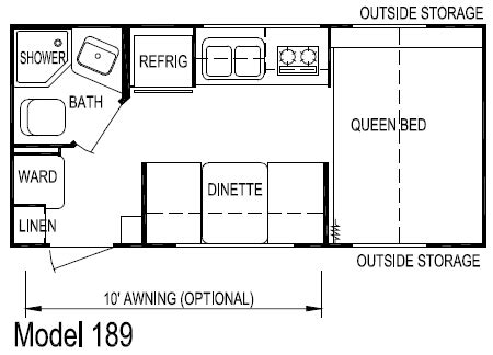 layton travel trailer floor plans layton ultra lite travel trailer model 189