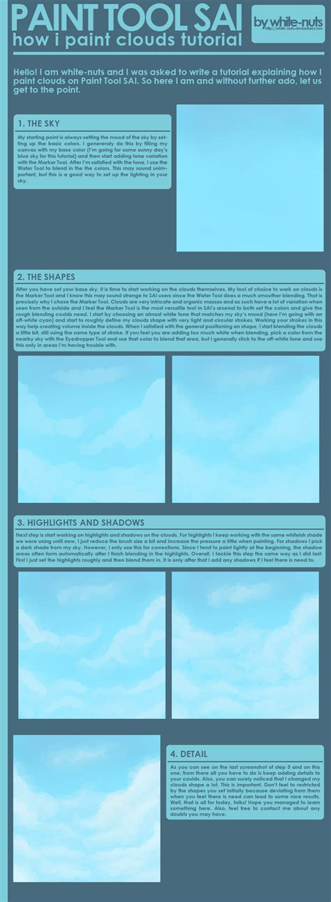 paint tool sai tutorial background sai clouds tutorial by white nuts on deviantart