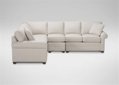 4 piece sectional sofa bennett four piece sectional quick ship sectionals
