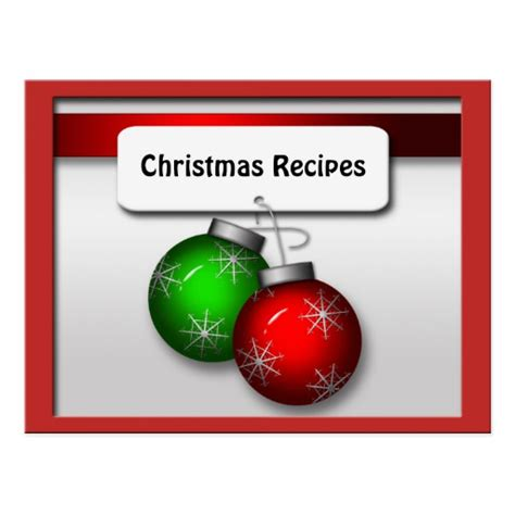 holiday recipe cards holiday recipe card templates