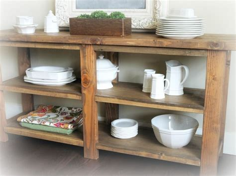 rustic buffet table for under my window in the kitchen