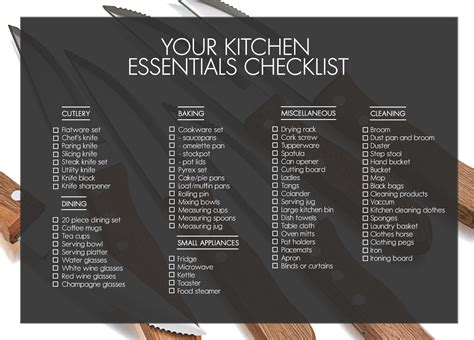 first home essentials checklist kitchen essentials woolworths co za