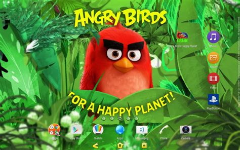 aptoide wwe 2k15 angry birds happy planet xperia theme released by sony