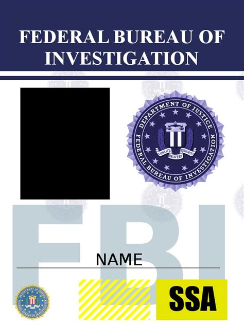 fbi id card template psd fbi badge template image collections template design ideas