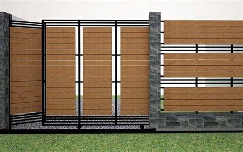 desain pagar rumah minimalis kayu  besi pagar house fence design fence design