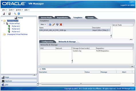 oracle vm templates 8 1 import a machine template