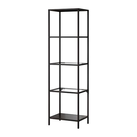 ikea metal shelving unit vittsj 214 shelving unit black brown glass ikea