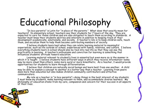 Professional Teaching Portfolio Teaching Philosophy Template