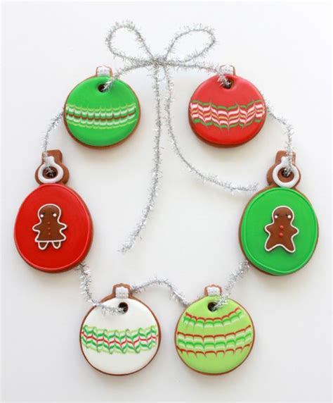 marbled christmas ornament cookies sweetopia
