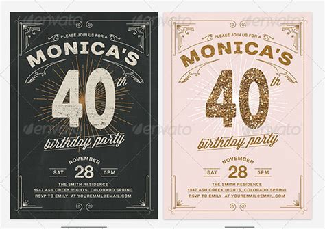 retro birthday card template 19 great birthday invitation cards psds design freebies