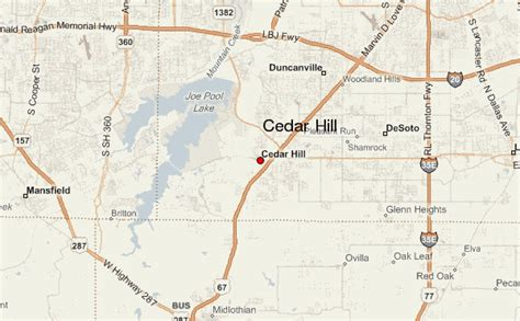cedar hill texas map cedar hill location guide