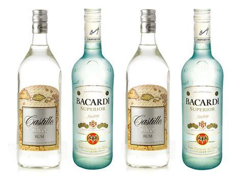 rum vs light rum the bottom shelf castillo silver vs bacardi
