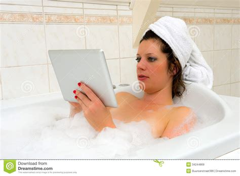 www bathroom sex videos com with ipad in bath royalty free stock images image 34244869