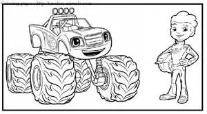 blaze coloring blaze and the machines coloring pages coloring