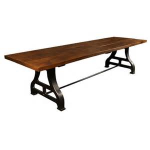 Vintage industrial cast iron amp wood dining conference table get